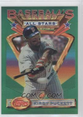 1993 Topps Finest Refractor #112 - Kirby Puckett - Courtesy of COMC.com