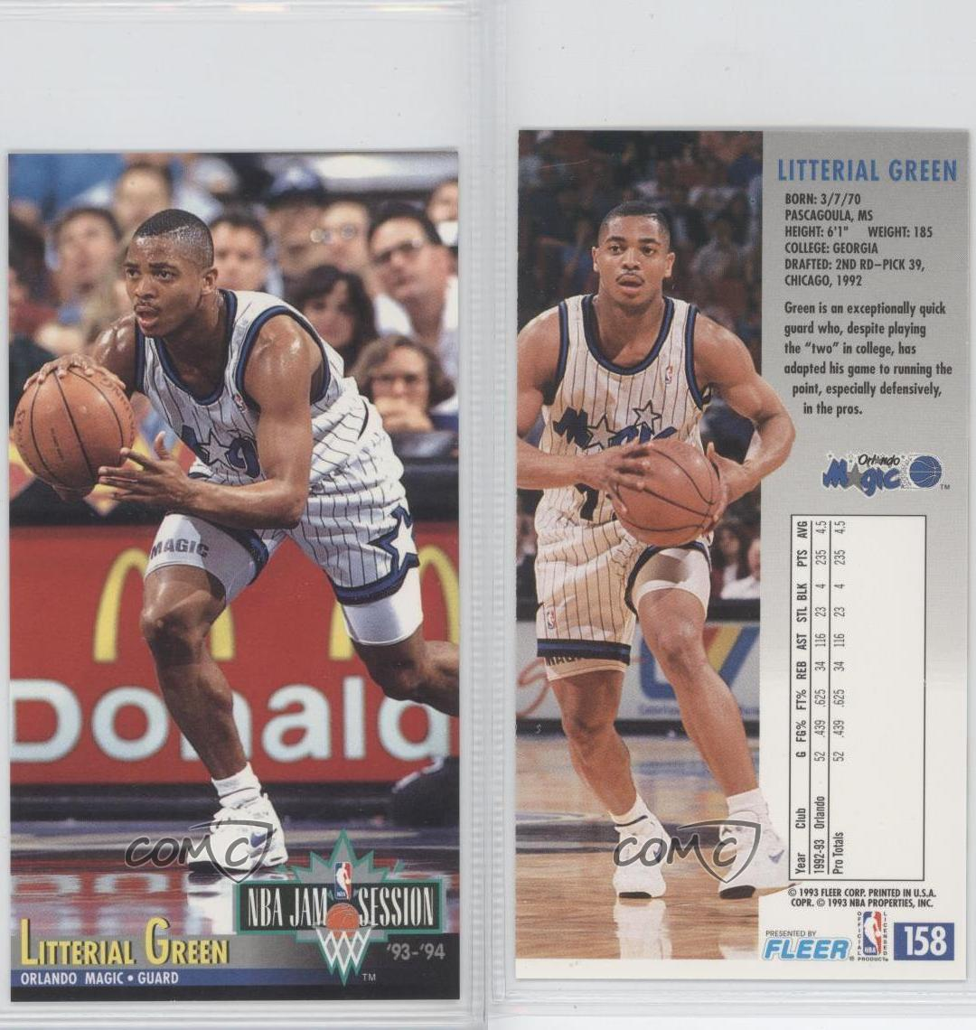 1993-94 NBA Jam Session #158 Litterial Green Orlando Magic