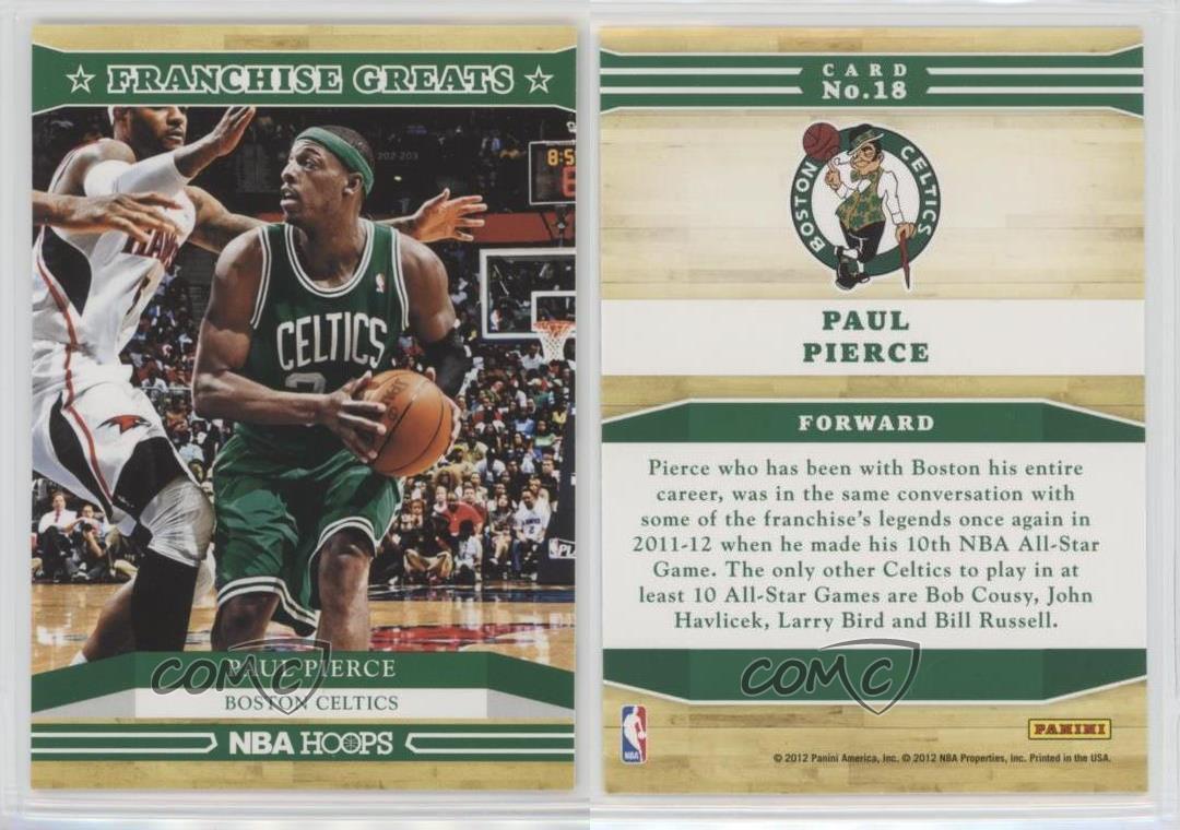2012 13 nba hoops franchise greats 18 paul pierce boston for 18 8 salon franchise