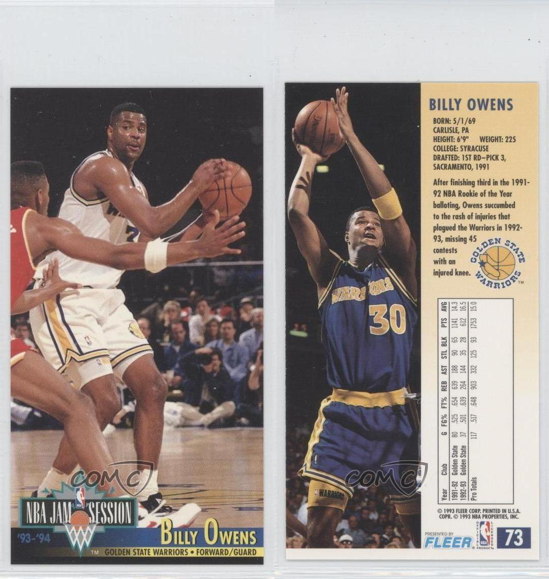 1993-94 NBA Jam Session #73 Billy Owens Golden State