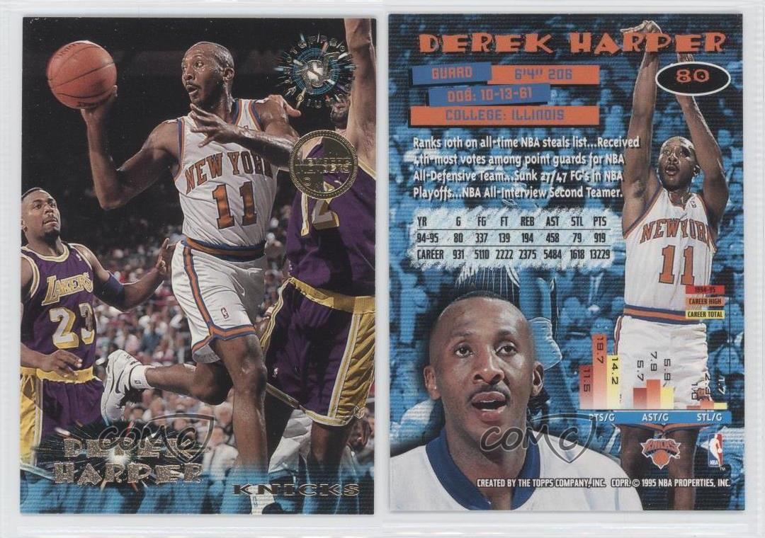 1995 96 Topps Stadium Club Members ly 80 Derek Harper New York