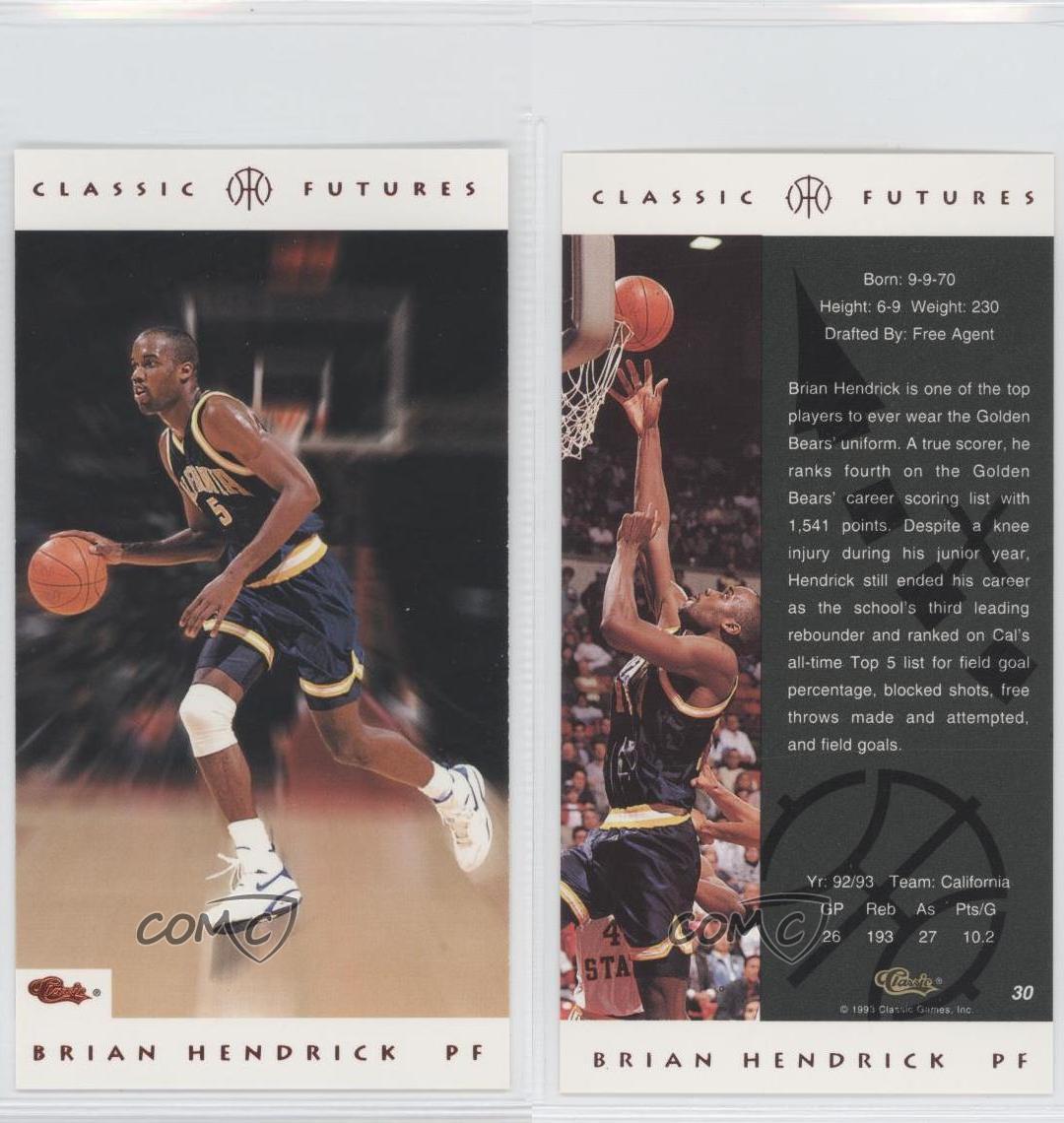 1993-94 Classic Futures #30 Brian Hendrick Rookie