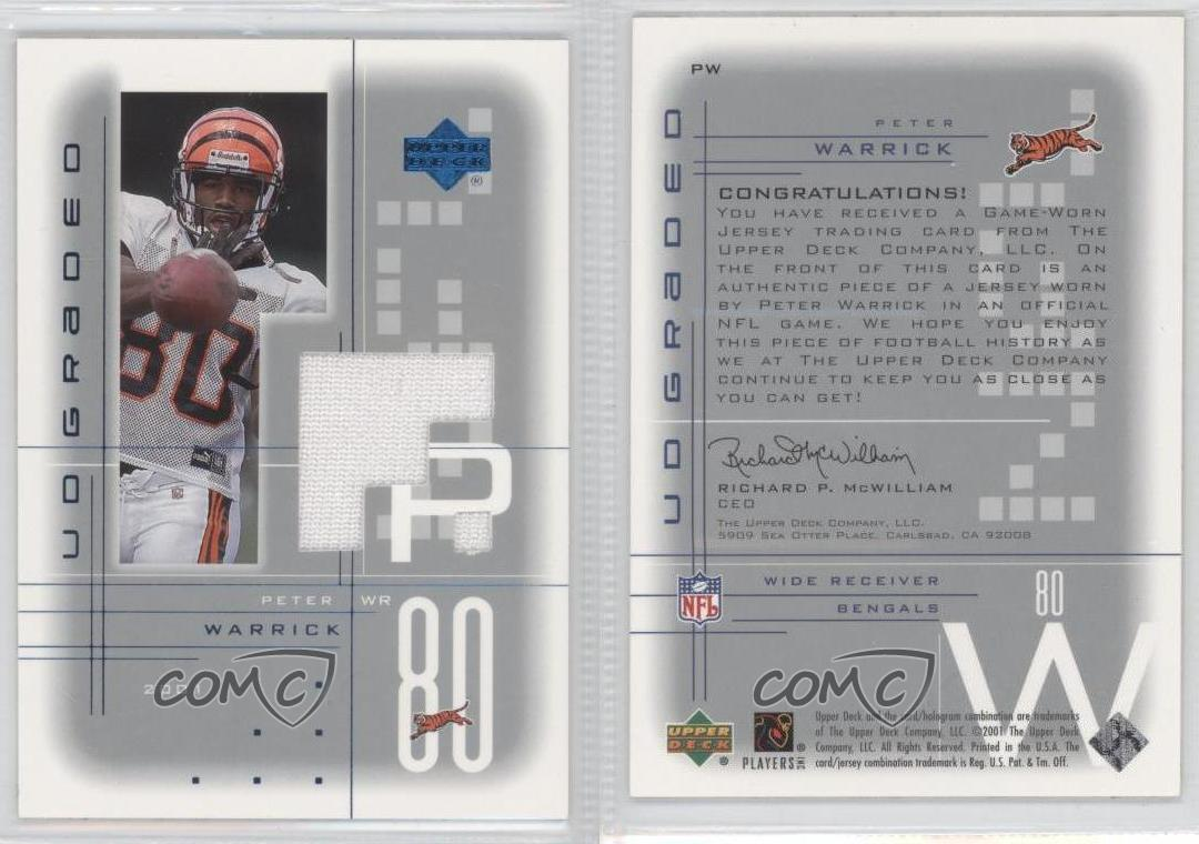 competitive price bcd39 208e9 80%OFF 2001 UD Graded Game Jerseys PW Peter Warrick Cincinnati Bengals  Football Card