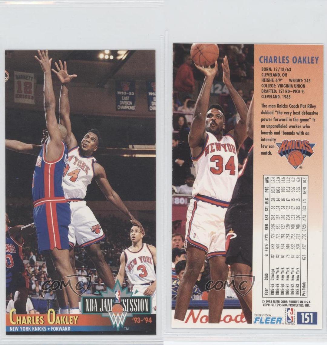 1993-94 NBA Jam Session #151 Charles Oakley New York