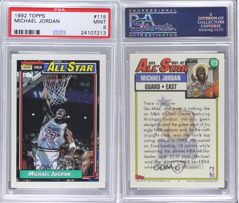 1992-93 Topps #115 NBA All-Star (Michael Jordan) PSA 9