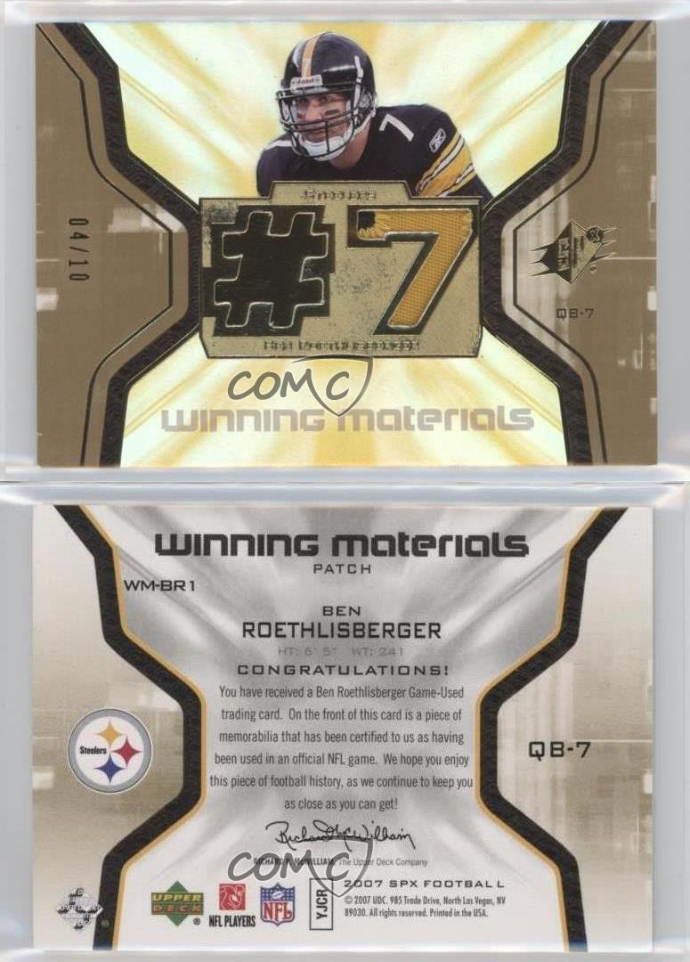 check out f3e27 8f2dc 50% off ben roethlisberger jersey card f60d0 2f608