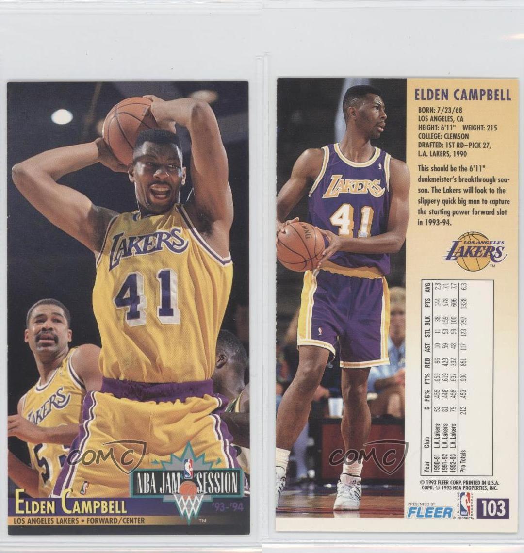 1993-94 NBA Jam Session #103 Elden Campbell Los Angeles