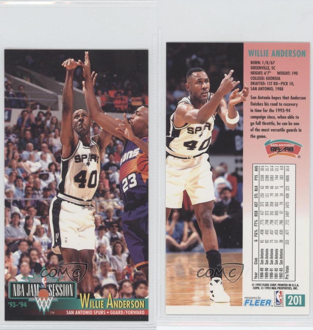1993-94 NBA Jam Session #201 Willie Anderson San Antonio