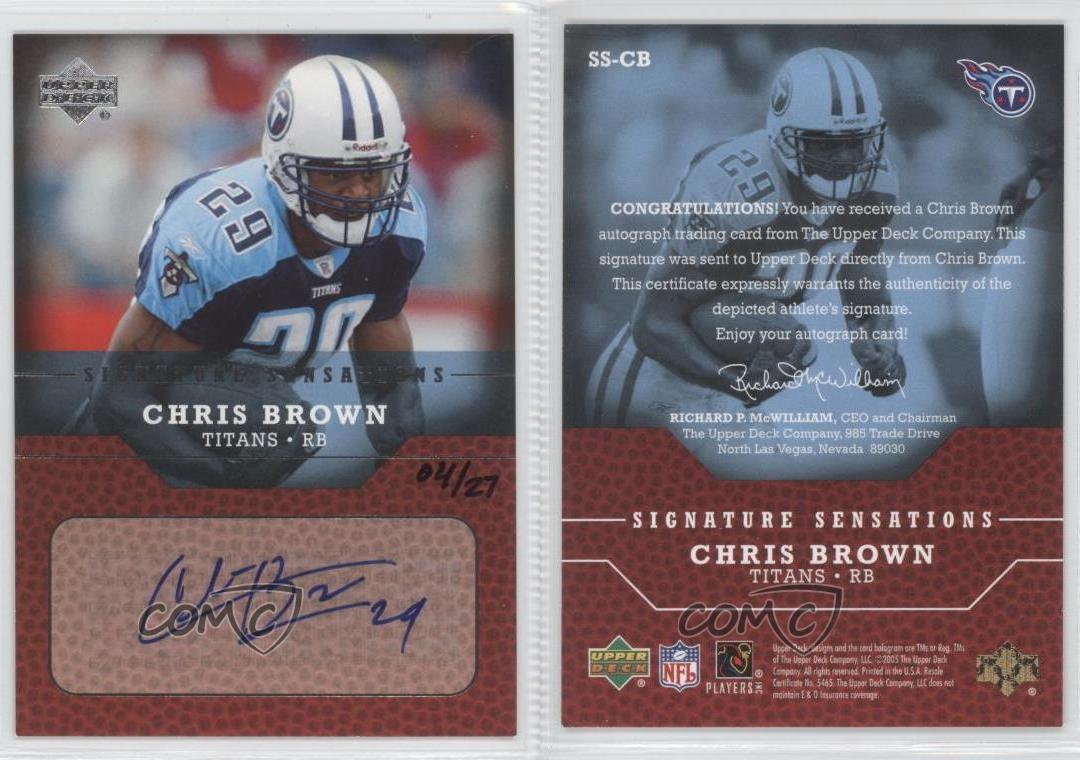 2005 Upper Deck Signature Sensations #SS-CB Chris Brown ...