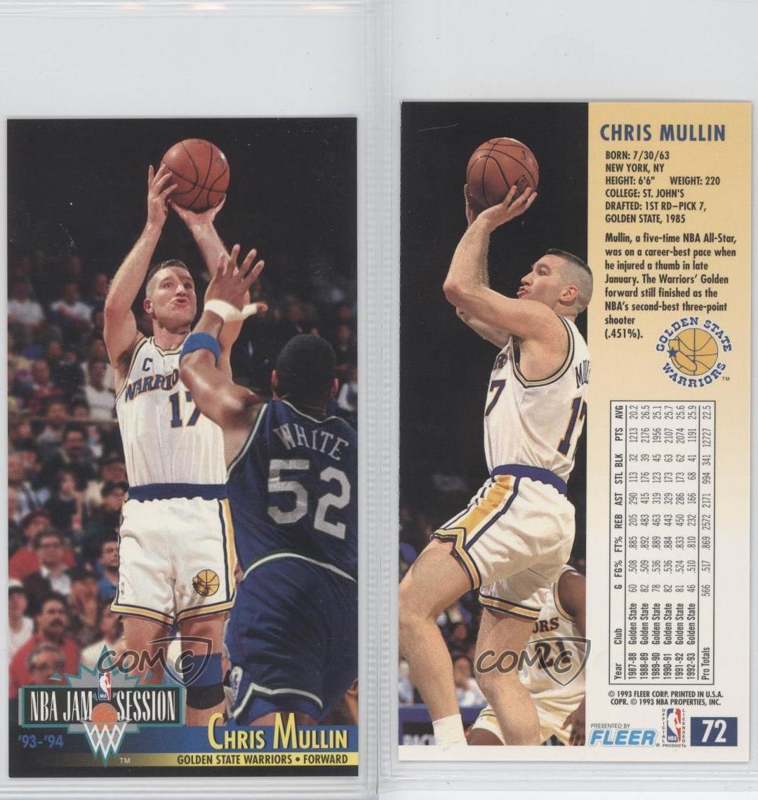 1993-94 NBA Jam Session #72 Chris Mullin Golden State