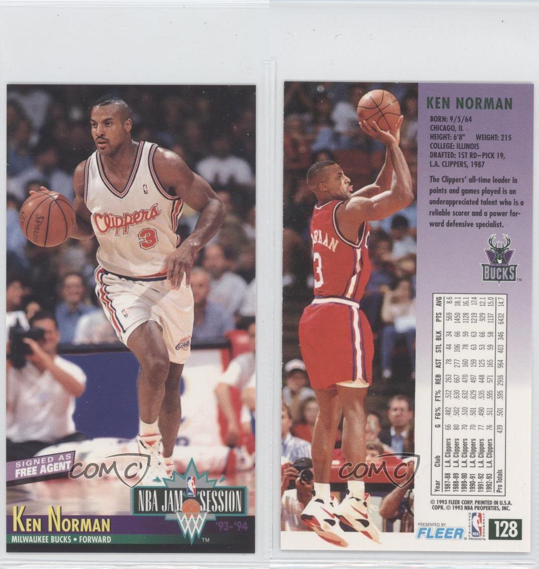 1993-94 NBA Jam Session 128 Ken Norman Milwaukee Bucks Los