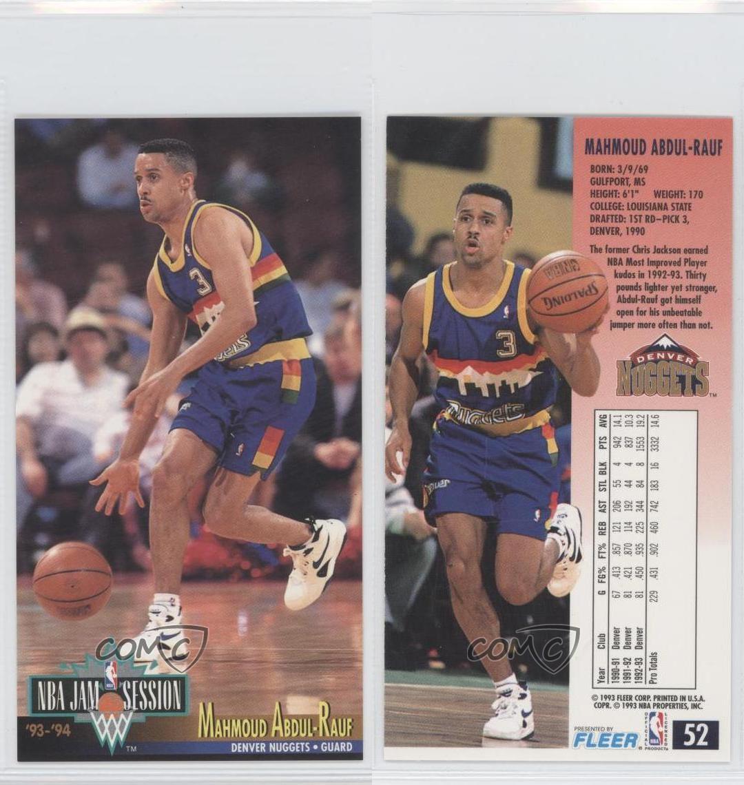 1993-94 NBA Jam Session #52 Mahmoud Abdul-Rauf Denver