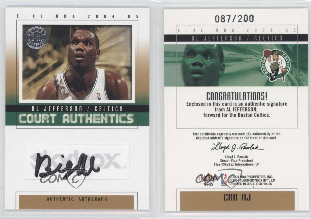 on sale 2004-05 E-XL CAA-AJ Al Jefferson Boston Celtics New