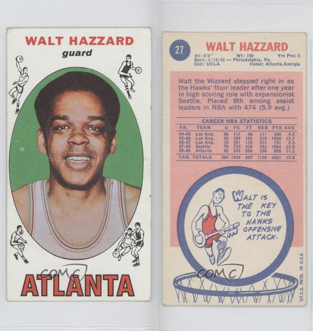 1969-70 Topps #27 Walt Hazzard Atlanta Hawks RC Rookie