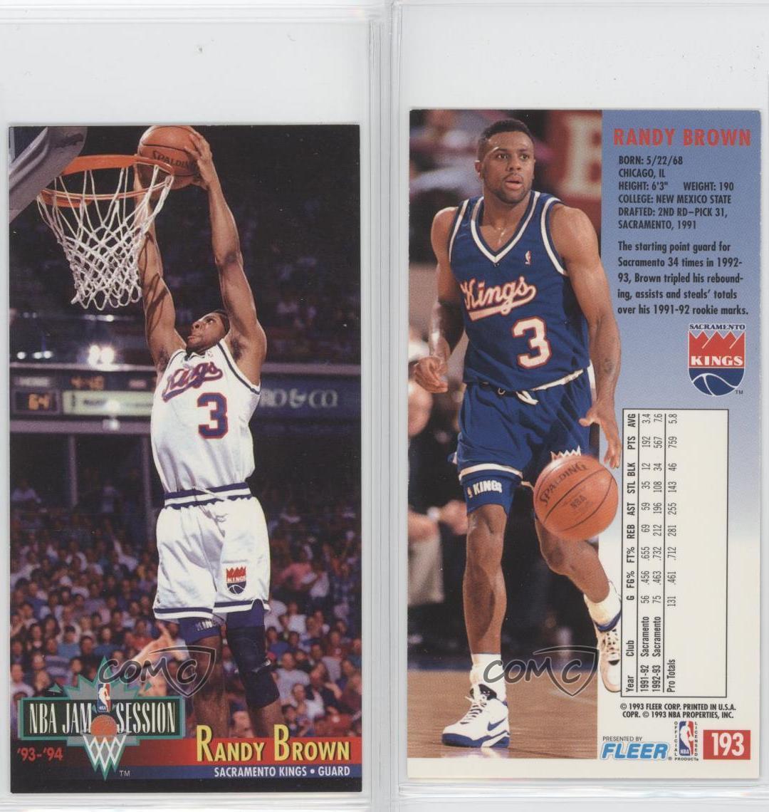 1993-94 NBA Jam Session #193 Randy Brown Sacramento Kings