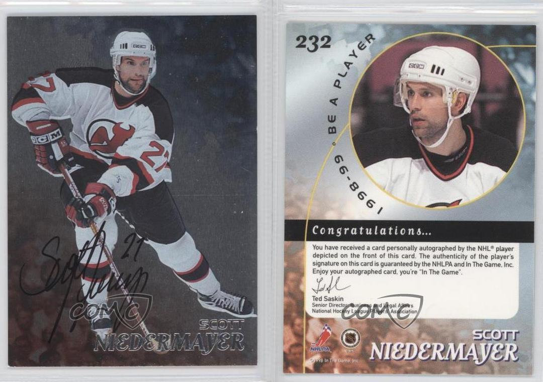 1998 be a player silver autographs 232 scott niedermayer new jersey devils auto ebay. Black Bedroom Furniture Sets. Home Design Ideas