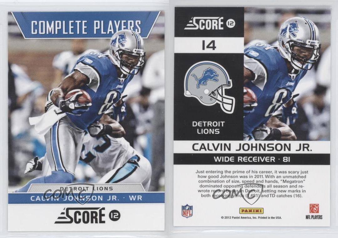calvin johnson lions scores - photo #27