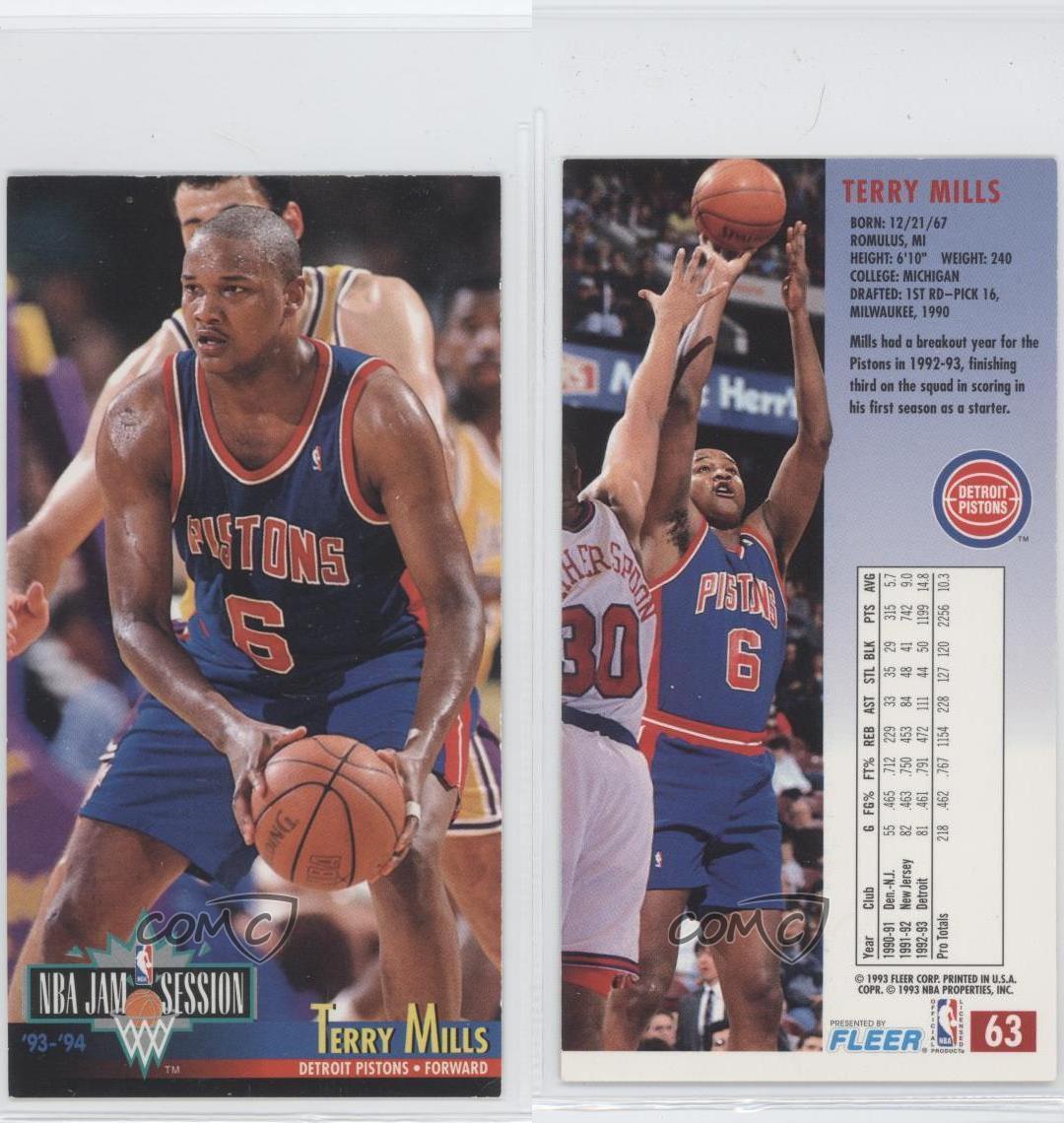 1993-94 NBA Jam Session #63 Terry Mills Detroit Pistons