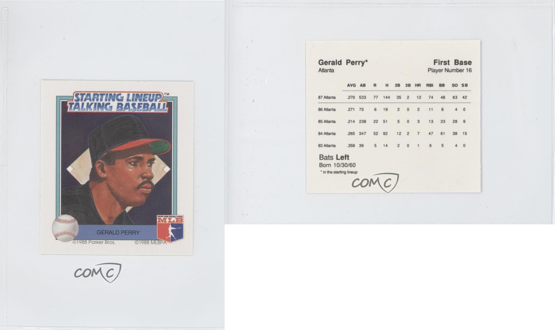 1988 Starting Lineup Talking Baseball Atlanta Braves Gepe