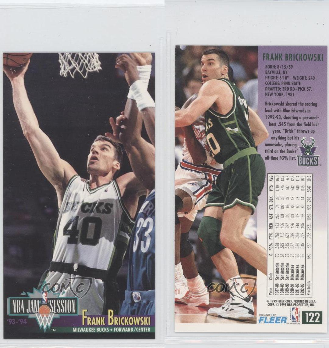 1993-94 NBA Jam Session #122 Frank Brickowski Milwaukee