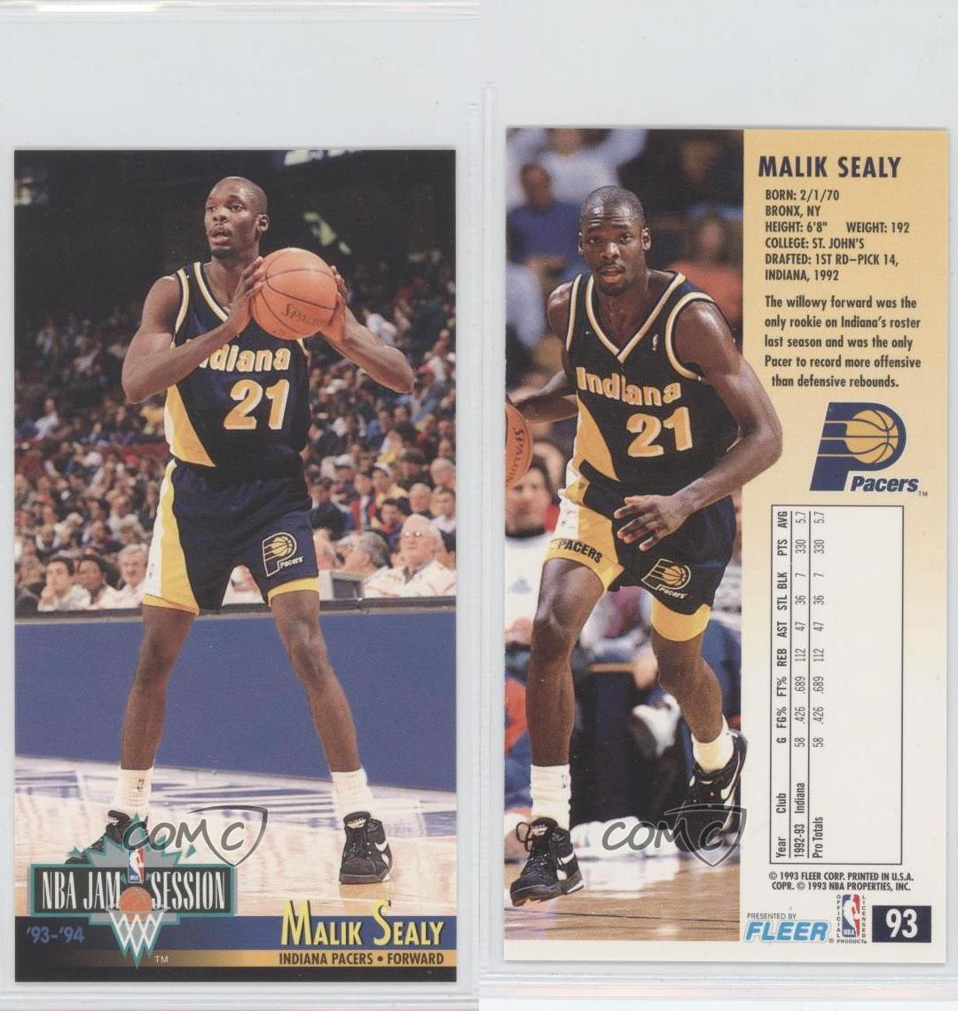 1993-94 NBA Jam Session #93 Malik Sealy Indiana Pacers