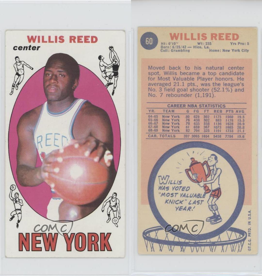 1969-70 Topps #60 Willis Reed New York Knicks RC Rookie