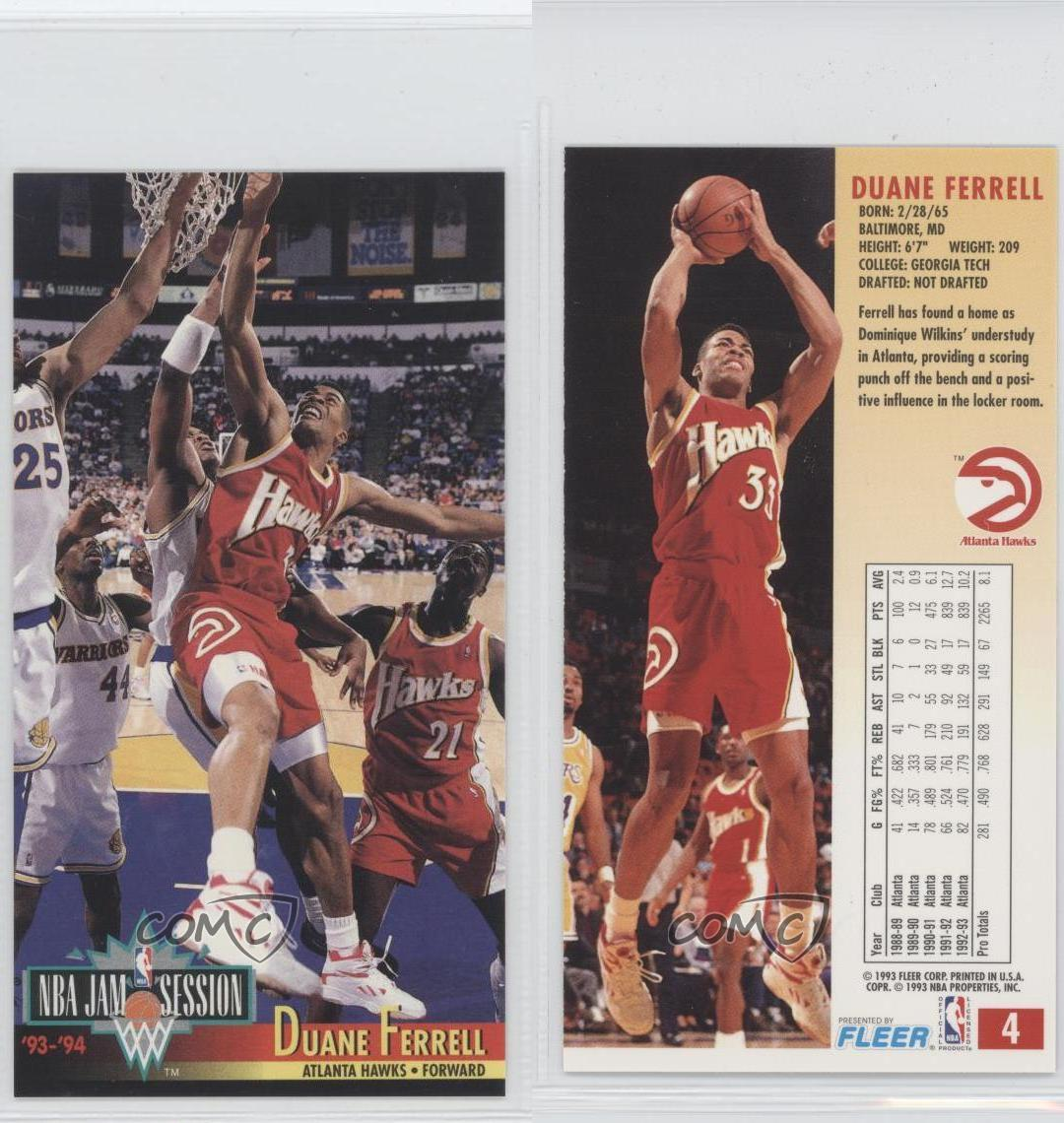 1993-94 NBA Jam Session #4 Duane Ferrell Atlanta Hawks
