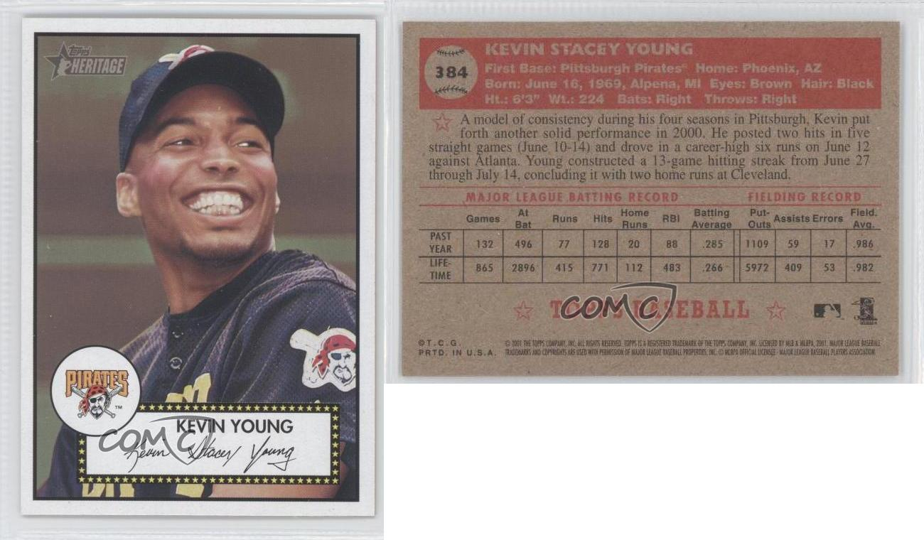 2001 Topps Heritage #384 Kevin Young Pittsburgh Pirates Baseball Card