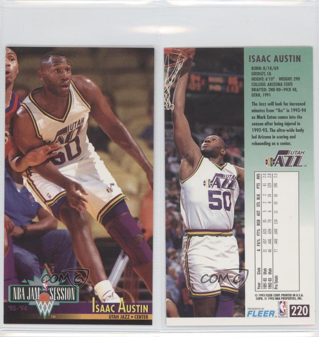 1993-94 NBA Jam Session #220 Isaac Austin Utah Jazz