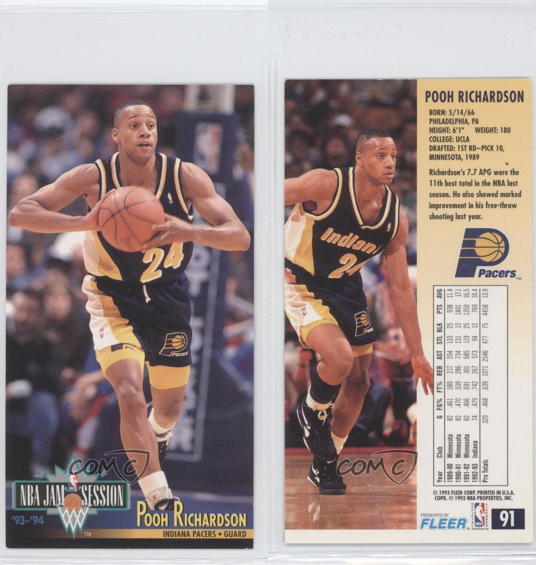 1993-94 NBA Jam Session #91 Pooh Richardson Indiana Pacers