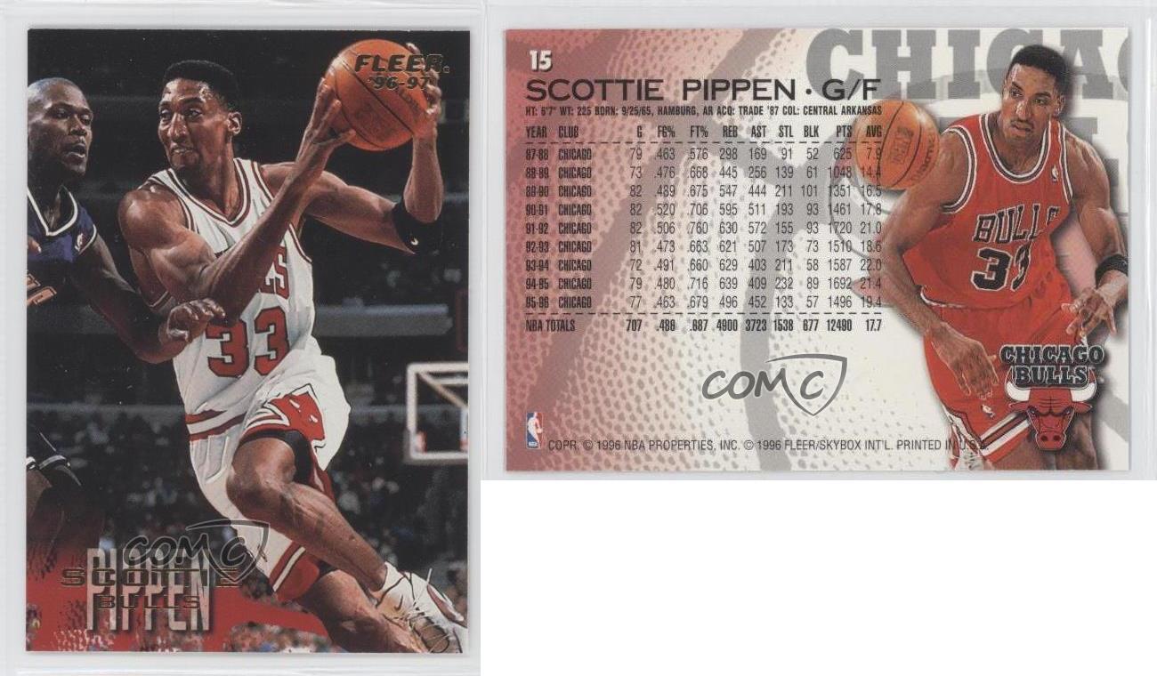 scottie pippen basketball cards worth money