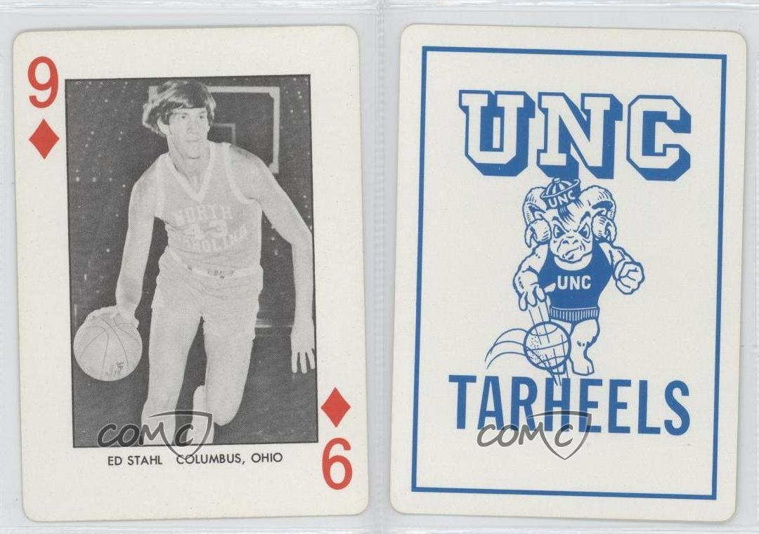1973 north carolina playing cards white back 9 ed for Unc business cards