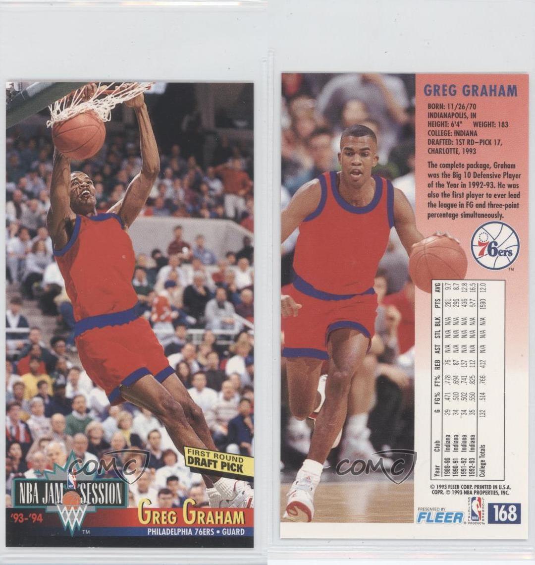 1993 NBA Jam Session #168 Greg Graham Philadelphia 76ers