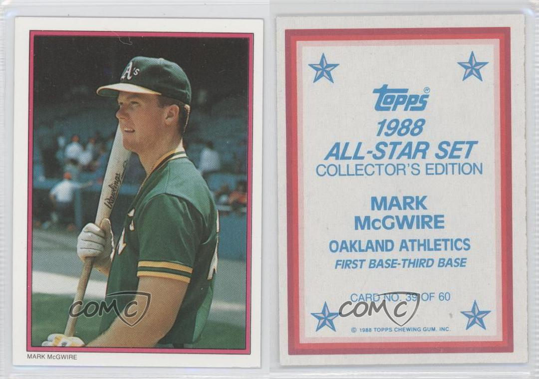 1988 Topps Mail In Glossy All Star Collector S Edition 39