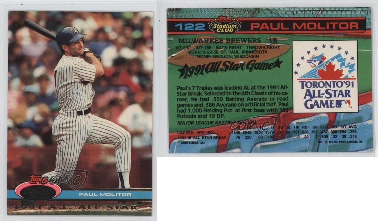 Milwaukee Brewers Bedroom In A Box Major League Baseball: 1991 Topps Stadium Club Skydome Box Set Base #122 Paul