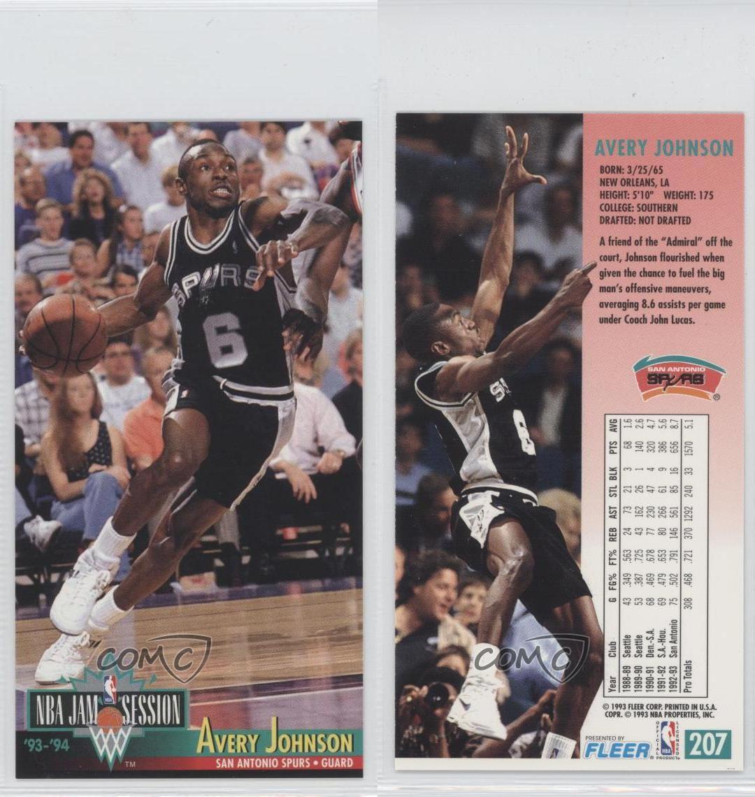1993-94 NBA Jam Session #207 Avery Johnson San Antonio