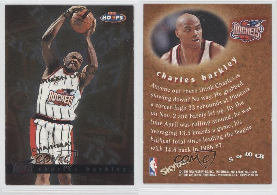 chairman of the board 5cb charles barkley houston rockets card ebay