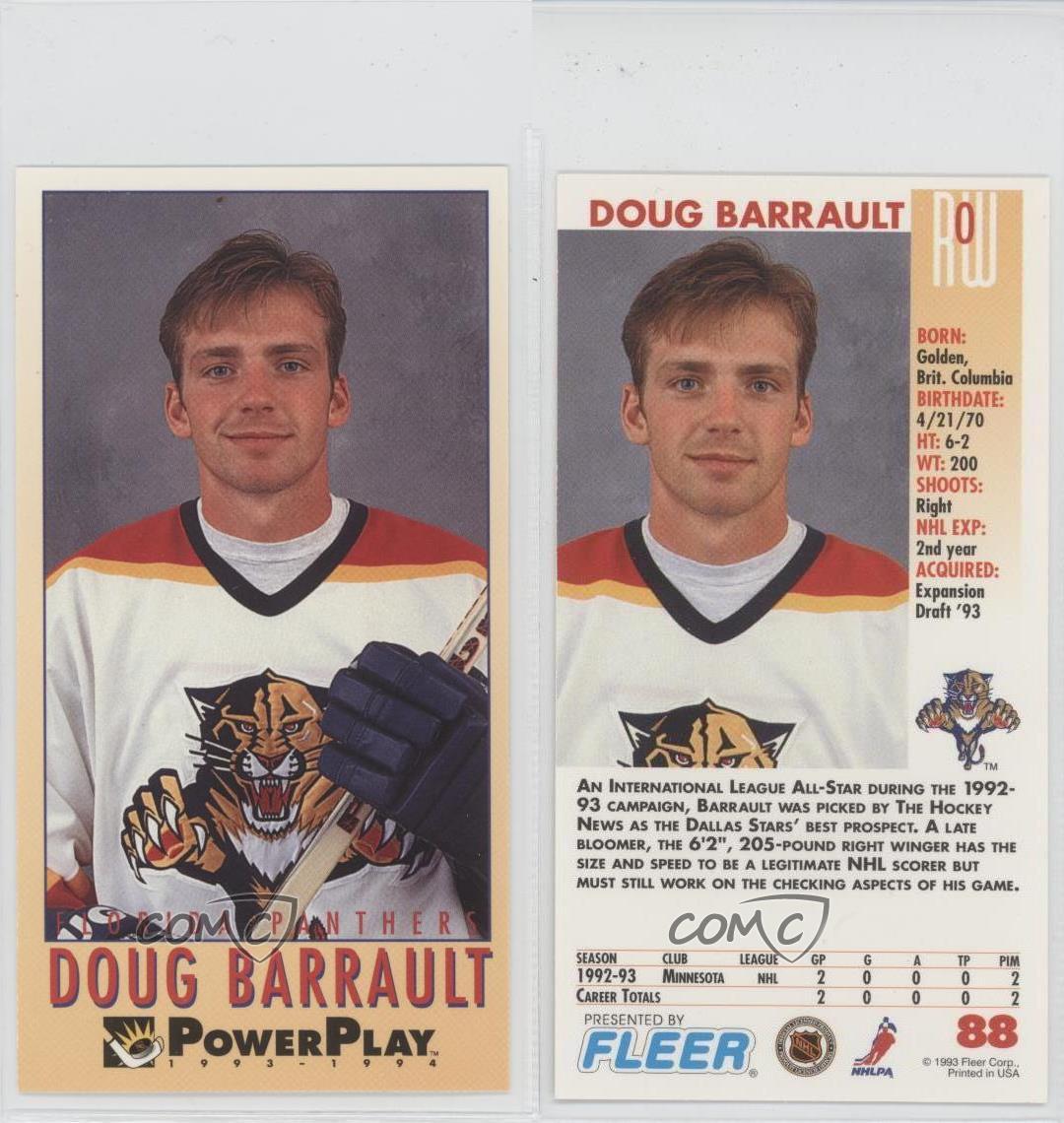 1993 Fleer Power Play #88 Doug Barrault Minnesota North