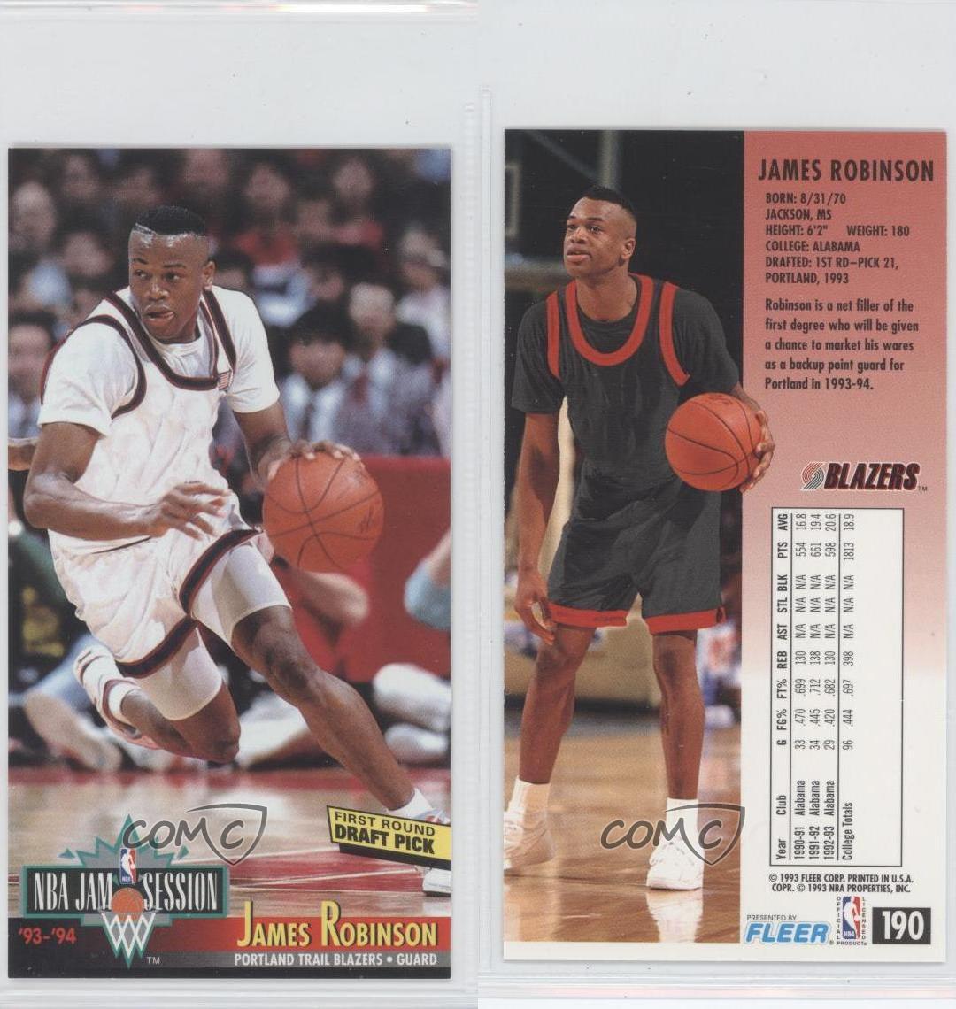 Portland Trail Blazers Roster 1992: 1993 NBA Jam Session #190 James Robinson Portland Trail
