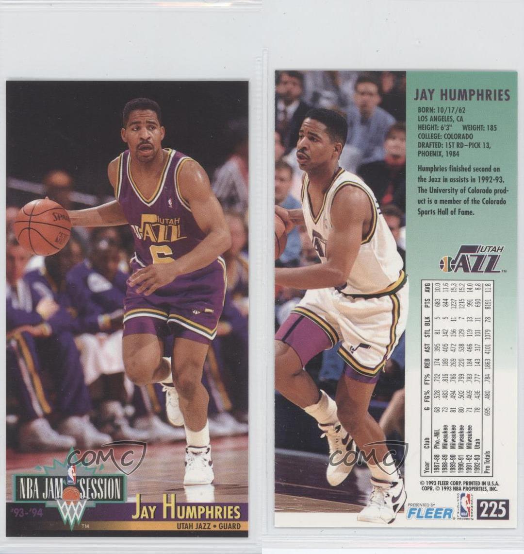1993-94 NBA Jam Session #225 Jay Humphries Utah Jazz