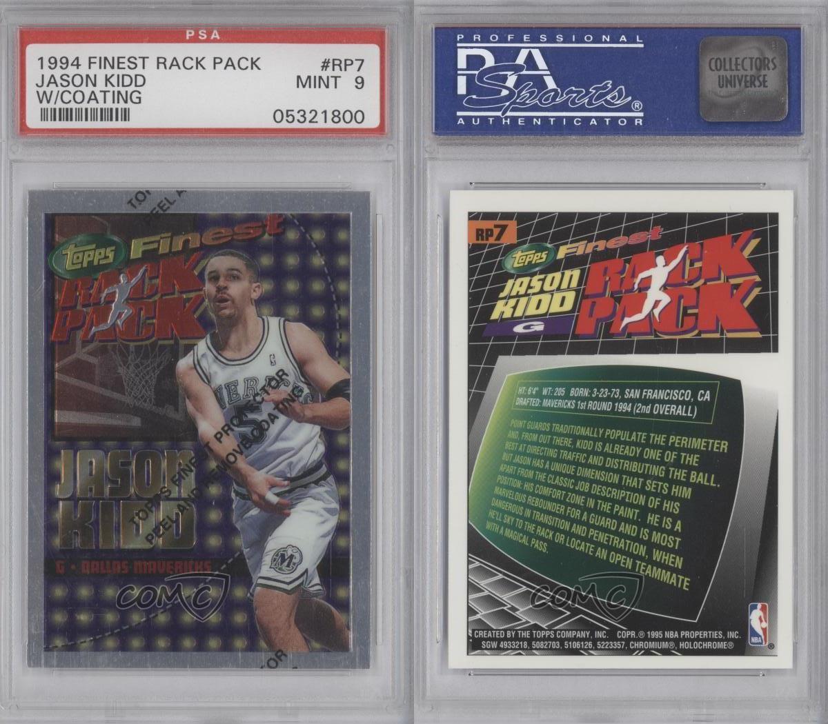 1994-95 Topps Finest Rack Pack RP7 Jason Kidd PSA 9 Dallas