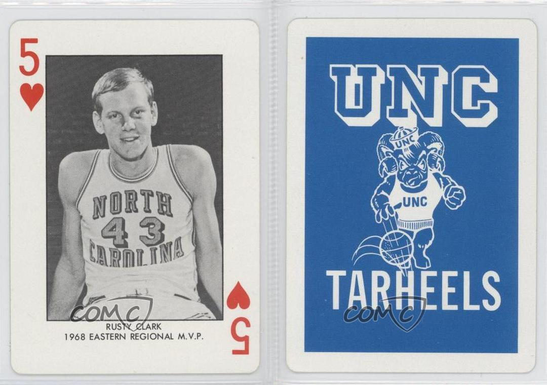 1973 north carolina playing cards blue back 5h rusty for Unc business cards
