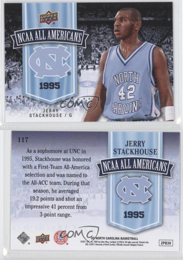 2010 11 ud north carolina basketball 117 jerry stackhouse for Unc business cards