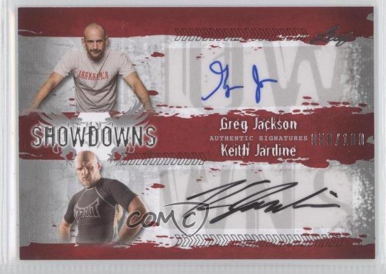2010 Leaf MMA #GJ1/KJ1 Greg Jackson Keith Jardine /100 Auto Autographed Card 8u9