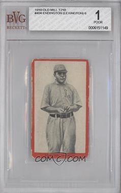 1910 Old Mill Tobacco T210 #404 - Frank Eddington (Uncorrected Error: Spelled Edington) [BVG1]