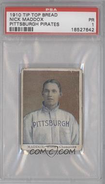 1910 Tip Top Bread Pittsburgh Pirates - D322 #N/A - Nick Maddox [PSA1]