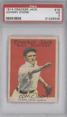 1914 Cracker Jack - E145-1 #18 - Johnny Evers [PSA3]