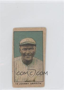 1920 Strip Cards - W519-1 - Numbered #10 - Johnny Griffith [Good to VG‑EX]