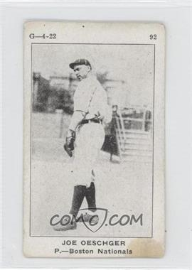 "1922 Strip Cards ""G-4-22"" - W501 #92 - Joe Oeschger [GoodtoVG‑EX]"