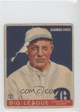 1933 Goudey Big League Chewing Gum - R319 #100 - George Uhle